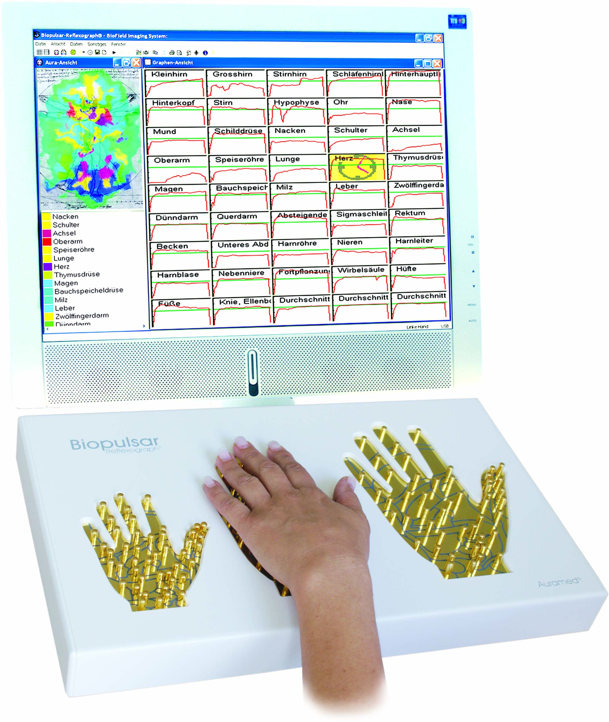 Biofeedback-Sensor 2 Hand links